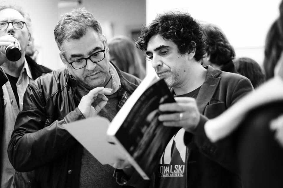 Wences Ventura y Jesús García Cívico con Oscar Peyrou al fondo