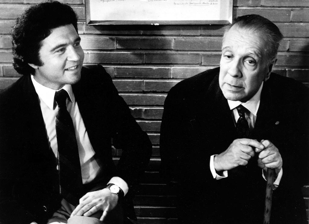 José Luis Jover en su primera entrevista con Borges (1973)